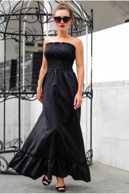 Черный женский сарафан Монреаль - женская одежда, бижутерия оптом. Фото - look-and-buy.com