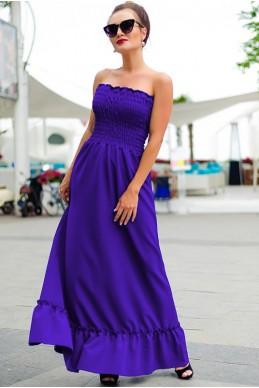 Длинный летний сарафан Монреаль, ультафиолет - женская одежда, бижутерия оптом. Фото - look-and-buy.com