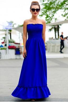 Сарафан с открытой спиной Монреаль, электрик - женская одежда, бижутерия оптом. Фото - look-and-buy.com