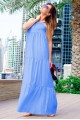 Длинное летнее платье Кимберли - женская одежда, бижутерия оптом. Фото - look-and-buy.com