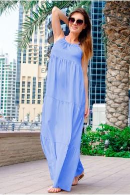 Летний сарафан макси Кимберли голубой - женская одежда, бижутерия оптом. Фото - look-and-buy.com