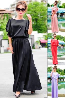 Шелковое длинное платье Шерлиз  - женская одежда, бижутерия оптом. Фото - look-and-buy.com