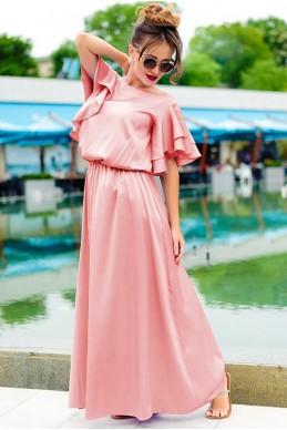 Летнее платье в греческом стиле  Шерлиз пудра - женская одежда, бижутерия оптом. Фото - look-and-buy.com