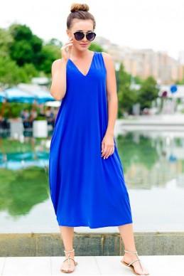 Платье в спортивном стиле Ева электрик - женская одежда, бижутерия оптом. Фото - look-and-buy.com