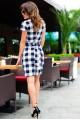 Платье в деловом стиле Полина черный - женская одежда, бижутерия оптом. Фото - look-and-buy.com
