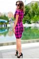 Повседневное платье в клетку Полина - женская одежда, бижутерия оптом. Фото - look-and-buy.com