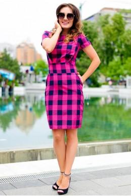 Оригинальное летнее платье Полина малина - женская одежда, бижутерия оптом. Фото - look-and-buy.com