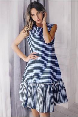 Платье в морском стиле Филиппа синий - женская одежда, бижутерия оптом. Фото - look-and-buy.com