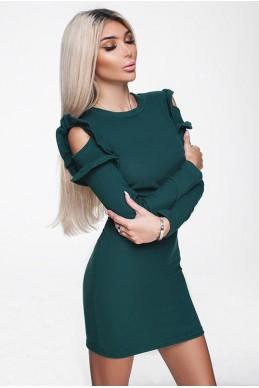 Модное платье ГРЕЙС изумруд - женская одежда, бижутерия оптом. Фото - look-and-buy.com