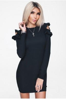 Черное короткое платье ГРЕЙС
