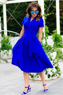 Повседневное летнее платье Бритни электрик - женская одежда, бижутерия оптом. Фото - look-and-buy.com