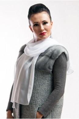 """Шарф """"Lux"""" белый - женская одежда, бижутерия оптом. Фото - look-and-buy.com"""