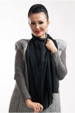 """Шарф """"Lux"""" черный - женская одежда, бижутерия оптом. Фото - look-and-buy.com"""