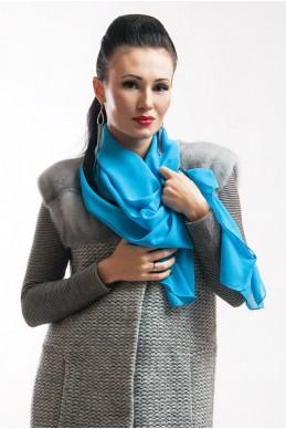 """Шарф """"Lux"""" голубой - женская одежда, бижутерия оптом. Фото - look-and-buy.com"""