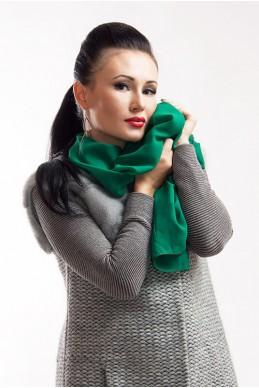 """Шарф """"Lux"""" изумрудный - женская одежда, бижутерия оптом. Фото - look-and-buy.com"""
