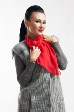 """Шарф """"Lux"""" красный - женская одежда, бижутерия оптом. Фото - look-and-buy.com"""