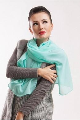 """Шарф """"Lux"""" ментол - женская одежда, бижутерия оптом. Фото - look-and-buy.com"""