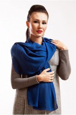 """Шарф """"Lux"""" синий - женская одежда, бижутерия оптом. Фото - look-and-buy.com"""