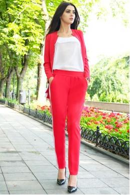 Красный брючный костюм РЕЙЧЕЛ  - женская одежда, бижутерия оптом. Фото - look-and-buy.com