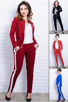 Женский костюм с брюками РЕЙЧЕЛ - женская одежда, бижутерия оптом. Фото - look-and-buy.com