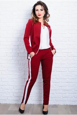 Стильный женский костюм  РЕЙЧЕЛ бордовый - женская одежда, бижутерия оптом. Фото - look-and-buy.com