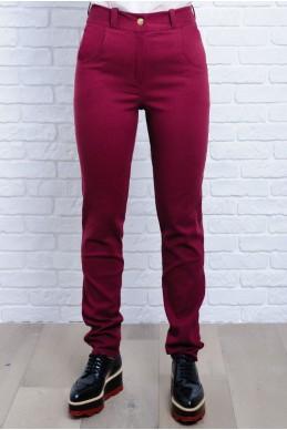 Бордовые женские джинсы Мексика  - женская одежда, бижутерия оптом. Фото - look-and-buy.com