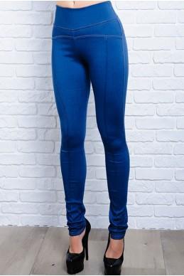 Джеггинсы синего цвета Лесли - женская одежда, бижутерия оптом. Фото - look-and-buy.com