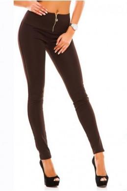 """Лосины на флисе """"Лайла"""", шоколадный - женская одежда, бижутерия оптом. Фото - look-and-buy.com"""