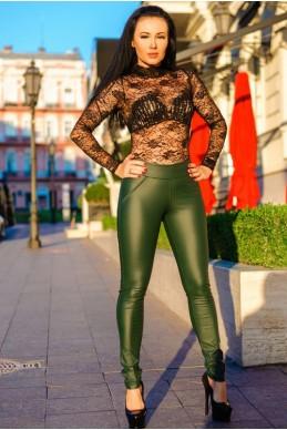 """Женские лосины """"Slim"""", изумрудный - женская одежда, бижутерия оптом. Фото - look-and-buy.com"""