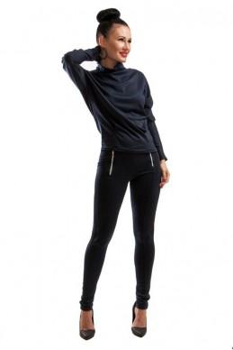 """Лосины """"Эмили"""" темно-синий - женская одежда, бижутерия оптом. Фото - look-and-buy.com"""