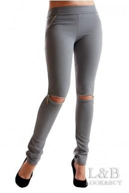 """Лосины """"Сьюзи"""" серый - женская одежда, бижутерия оптом. Фото - look-and-buy.com"""