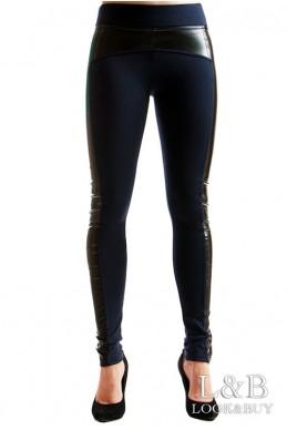 """Лосины """"Манхеттен"""" темно-синий  - женская одежда, бижутерия оптом. Фото - look-and-buy.com"""