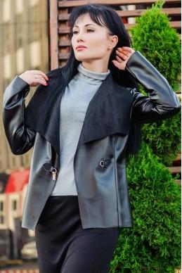 """Кожаная куртка """"Чоппер"""" - женская одежда, бижутерия оптом. Фото - look-and-buy.com"""