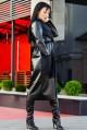 """Пальто из экокожи """"Барселона""""  - женская одежда, бижутерия оптом. Фото - look-and-buy.com"""