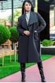 """Пальто-халат  """"Барселона"""", графит - женская одежда, бижутерия оптом. Фото - look-and-buy.com"""