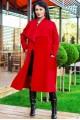 """Женское пальто """"Барселона"""" красное - женская одежда, бижутерия оптом. Фото - look-and-buy.com"""