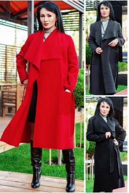 """Женское пальто """"Барселона"""" до р.60 - женская одежда, бижутерия оптом. Фото - look-and-buy.com"""
