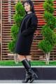 """Короткое пальто """"Маргарита"""", черный - женская одежда, бижутерия оптом. Фото - look-and-buy.com"""