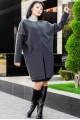 """Короткое пальто """"Маргарита"""", графит - женская одежда, бижутерия оптом. Фото - look-and-buy.com"""