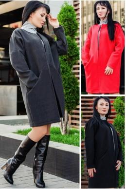 """Короткое пальто """"Маргарита""""  - женская одежда, бижутерия оптом. Фото - look-and-buy.com"""
