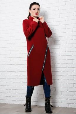 c886a70945e Стильное пальто Элисон бордового цвета. 625 ГРН