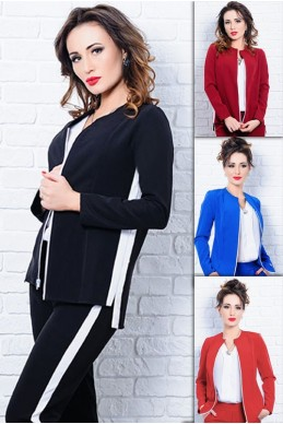 Ветровка - пиджак на молнии Севилья - женская одежда, бижутерия оптом. Фото - look-and-buy.com
