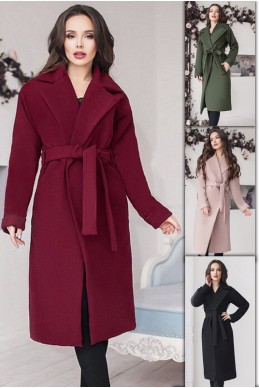 Пальто на подкладке Даниель  - женская одежда, бижутерия оптом. Фото - look-and-buy.com