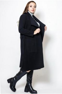 """Демисезонное пальто """"Барселона"""", черное - женская одежда, бижутерия оптом. Фото - look-and-buy.com"""