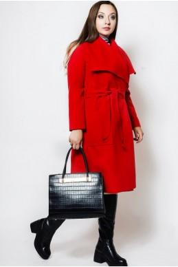 """Красное пальто батал """"Барселона""""  женская одежда оптом от производителя. Фото - Доставка по СНГ - look-and-buy.com"""