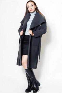 """Кашемировое пальто """"Барселона"""", графит - женская одежда, бижутерия оптом. Фото - look-and-buy.com"""