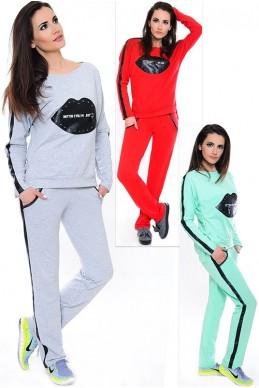 """Трикотажный костюм """"Кис"""" - женская одежда, бижутерия оптом. Фото - look-and-buy.com"""
