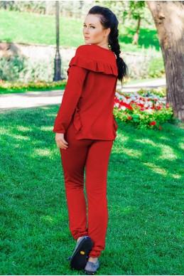 """Красный спортивный костюм """"Stefani"""" - женская одежда, бижутерия оптом. Фото - look-and-buy.com"""
