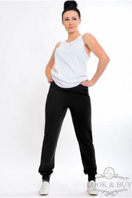 """Черные спортивные штаны """"Style""""  - женская одежда, бижутерия оптом. Фото - look-and-buy.com"""