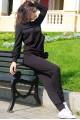 """Черный спортивный костюм """"МонБлан"""" - женская одежда, бижутерия оптом. Фото - look-and-buy.com"""